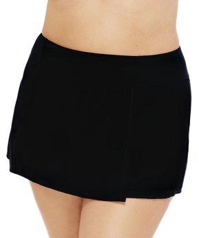 096893675d Christina Swim   Black Skirted Bikini - Plus