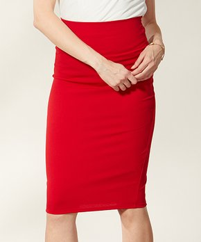 3d2673dcc491 VKY & CO | Red Crepe Pencil Skirt - Women & Plus