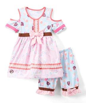 a97404238 Ruffles by Tutu and Lulu   Pink & Blue Ice Cream Cone A-Line Dress & …