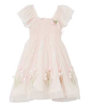 10d6e19d916b Biscotti & Kate Mack | Pink Floral-Accent Smocked Dress - Girls