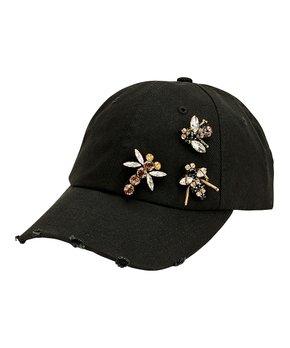 3d1dc349bfecb9 San Diego Hat Company | Black Dragonfly Bejeweled Baseball Cap