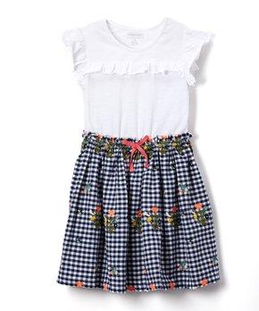 4b5c0c8abaa7e Cherokee | Black & White Gingham Skater Dress - Girls