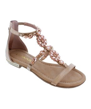 d31ec01c39 Liliana Footwear | Rose Gold Fenti T-Strap Sandal - Women