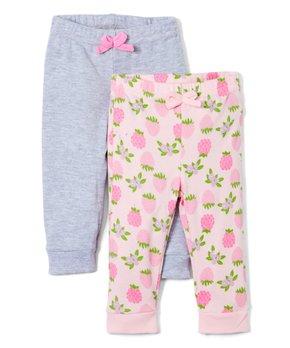 84d5f7209 Sweet & Soft   Pink Berry Sweatpants & Gray Sweatpants - Newborn & In…