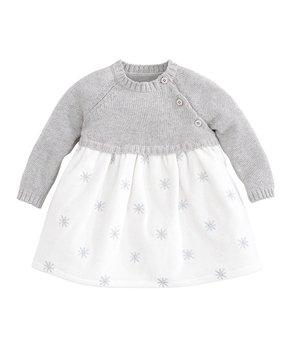 82a52f289976 Elegant Baby | Gray Sweater Dress - Newborn & Infant