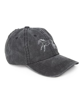 436e1271 AWST INTERNATIONAL | Black Galloping Horse Baseball Cap