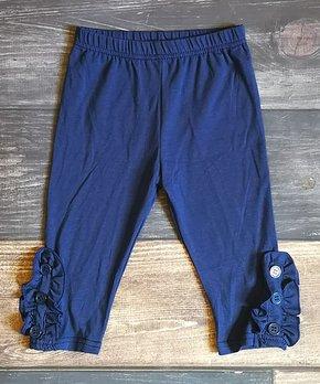 560ef4f9a6c5e Ava Grace Boutique   Navy Ruffle Capri Pants - Infant