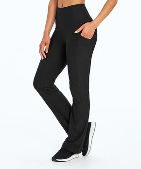 e4257054c22e14 Marika   Black Tummy-Control Pocket High-Waist Active Pants - Women