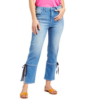75b64f05c92bd Seven7 | Karma Side-Tie Slit High-Rise Straight-Leg Crop Jeans - Women