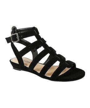 67465011a8 TOP MODA | Black Constant Strappy Gladiator Sandal - Women