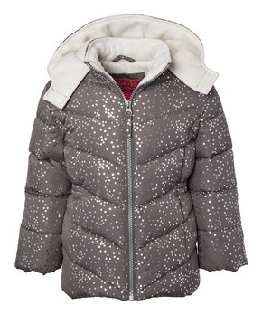 172f4cee4c270 Pink Platinum | Charcoal Sparkle Puffer Coat - Toddler & Girls