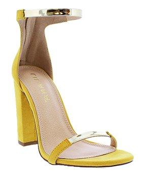 4555f3c3aa Liliana Footwear | Yellow Block-Heel Bitsy Sandal - Women