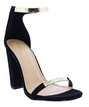 d29459b7b6 Liliana Footwear | Black Block-Heel Bitsy Sandal - Women