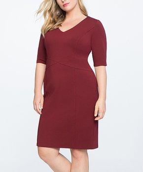 1b8d54a8 Cabernet Crisscross 9-to-5 Sheath Dress - Plus