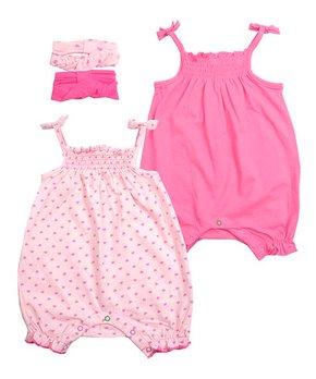 e79a5153d777bf Pink Hearts Smocked Romper Set - Newborn & Infant