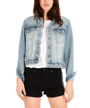 948f9dc14 Vigoss | Medium Wash Cropped Denim Jacket - Women