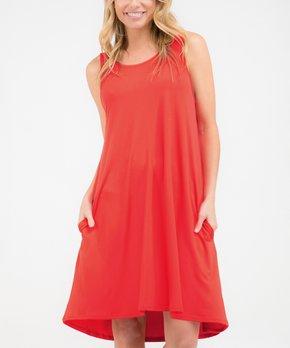 35fd19f3eb667 Doublju | Coral Sleeveless Shift Dress - Women & Plus