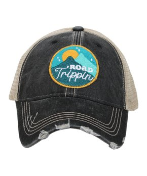 a05344e7 Katydid Collection   Black 'Road Trippin' Circle Patch Trucker Hat