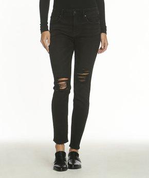591894e973755 Vigoss | Black Marley Distressed Skinny Jeans - Women & Plus