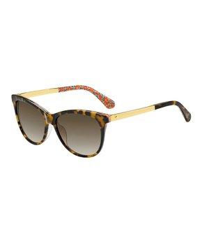1265a4bb36ce Kate Spade   Havana & Brown Gradient Jizelle Cat-Eye Sunglasses