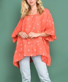 3a96735b82f Ozange Paris | Orange Pineapple Anathalie Linen Hi-Low Tunic - Women