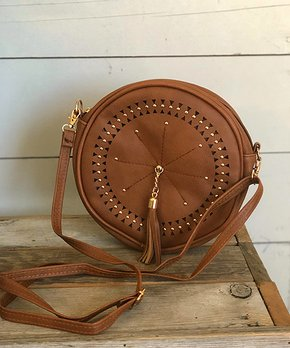 1ff4ccc99df5 only 2 left · Cheekys   Brown Studded Canteen Crossbody Bag