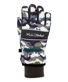 Arctix Youth Insulated Whiteout Gloves Ice Block Print Navy Large