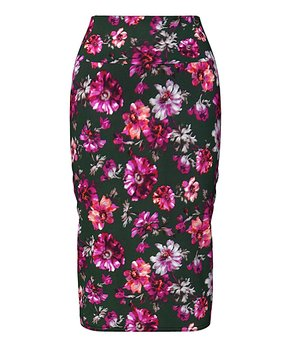 f76a1145d1 VKY & CO   Green & Berry Floral Tummy Control Pencil Skirt - Women & …