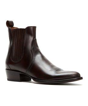 ddf7f39bb shop now. Frye | Dark Brown Grady Leather Chelsea Boot - Men