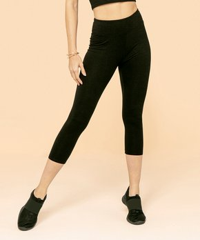 655fb40817c21 Jupee | Black High-Waist Capri Leggings - Women & Plus