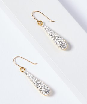 0912c27dd Rebecca Milano | 14k Gold Teardrop Earrings With Swarovski® Crystals