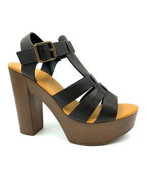 e9649b3bdf Bamboo | Black & Tan Juliana T-Strap Sandal - Women