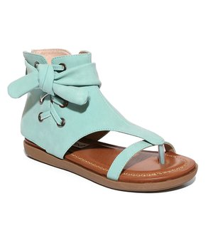 5d09ba380 2 Lips Too | Turquoise Lace-Up Too Kait Sandal - Women