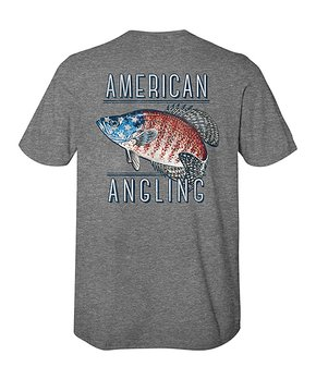 d0fb89df1 American Classics | Graphite Heather 'American Angling' Logo Crewneck…