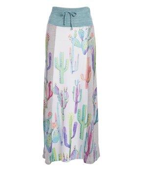 9902c7632d Casa Lee | White Cactus Tie-Front High-Waist Maxi Skirt - Women
