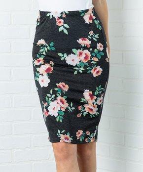 c79985512 Acting Pro | Black Floral Pencil Skirt - Women & Plus