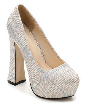 11f4335c610 gold platform heels | Zulily