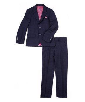 JAMES MORGAN Boys Velvet Blazer Formal Solid Color Suit Jacket