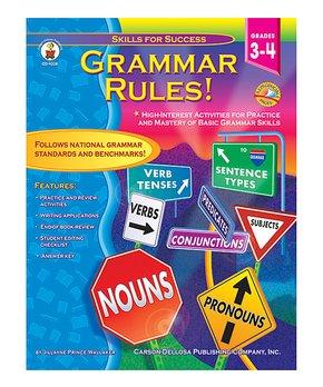 Carson-Dellosa Publishing Company | Grades 3-4 Grammar Rules! Workbook
