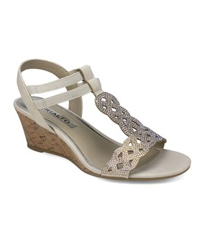 Corkys Womens Liberty Crisscross Ankle Strap Wedge Sandal in Natural 6m
