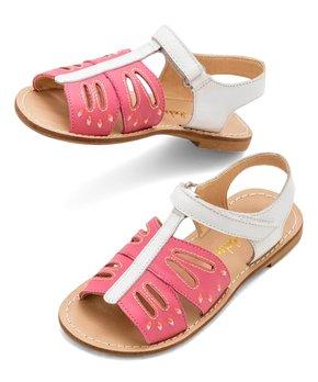 Little Kid//Big Kid Kensie Girl Girls Metallic Rhinestone Double Strap Closed Heel Sandal