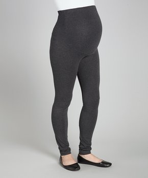96cee74348297 Times 2 | Charcoal Over-Belly Maternity Leggings - Plus Too