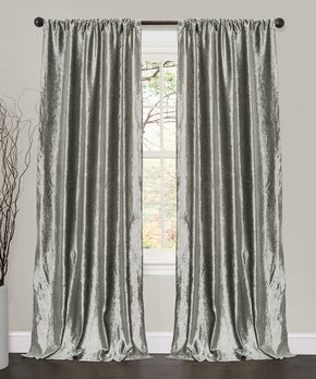 Duck River Textile | Gray & White Kylie Three-Piece Curtain Panel Set