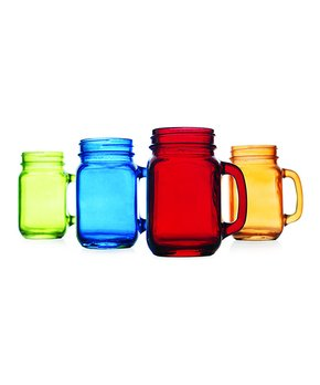Home Essentials and Beyond | Handled Jar Glass - Set of Four