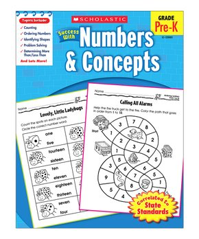 Scholastic Teaching Resources | Grades Pre-K Numbers and Concepts Workbook