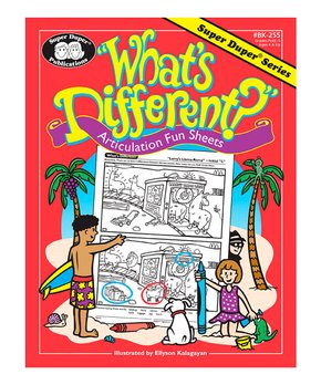 Super Duper Publications | What's Different Activity Workbook