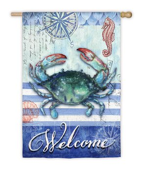 Evergreen | 'Welcome' Feathers & Flowers Outdoor Flag