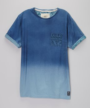b7593074 PX Los Angeles | Pastel Blue Fade Contrast Pocket Tee - Boys