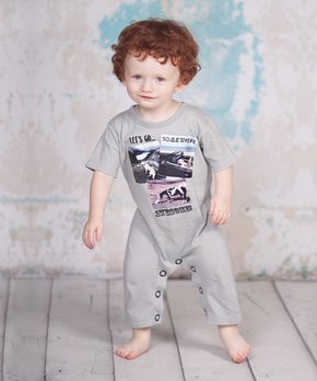 d30535ce55d Jelly the Pug Gray Somewhere Awesome Playsuit - Infant