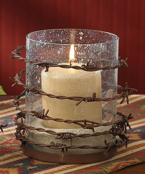 Park Designs | Barbed Wire Pillar Candleholder